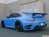 Wrapped in Blue with HRE P40 Wheels