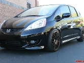 Sean's Honda Fit with Rotiform BLQ 18in Wheels