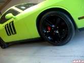Lime Green Wrapped Challenger