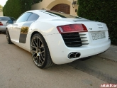 Sameh's Audi R8 with HRE P40 Monoblocks