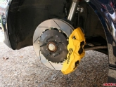 Brembo Big Brakes Yellow Caliper Slotted Rotors BMW M3 E46