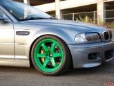 BMW M3 E46 Takata Green Volk TE37 Wheels 18x9.5