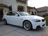 BMW M3 E92 White Work Brombacher Silver 19 inch Wheels
