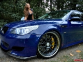 BMW M5 with Brembo and Girl