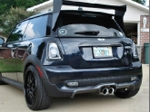 Mini Cooper S with 3D Design Carbon Fiber Diffuser