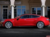 tesla-model-s-ev-red-side