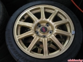 STI OEM Gold Wheels and Tires for Sale