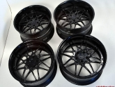Breed Forged 3pc Wheels Matte Black Center Gloss Black Lip 20x9.5 and 20x11 M3