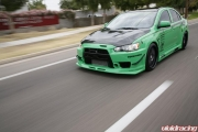 Project EVO X with Seibon Hood