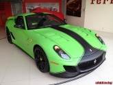 Ferrari GTO with FXX Aero Kit and Custom Matte Green