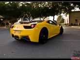 Ferrari 458 Yellow Capristo Carbon Fiber Diffuser
