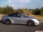 "997 Turbo Cab with Textured Charcoal 19"" P40 Wheels"