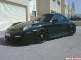 "Porsche 997C4S with HRE P43 19"" Gloss Black Wheels"