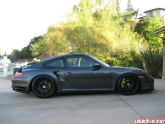 "Porsche 997TT with HRE P40 19"" Textured Black Wheels"