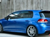 HRE P44sc Wheels Volkswagen Golf R 19x8.5 Satin Silver Rising Blue