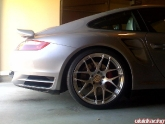 Silver 997 Turbo with Brushed HRE P40 Wheels 20 inch