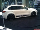 White Porsche Cayenne Turbo at LA Auto Show 2011