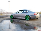 Volk TE37 Wheels Takata Green BMW E46 M3