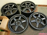 Porsche Black VOLK TE37 Wheels
