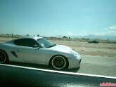 Porsche Cayman on Highway