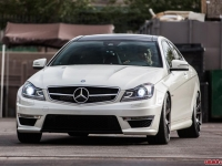 Mercedes C63 AMG Coupe Lowered with H&R Springs