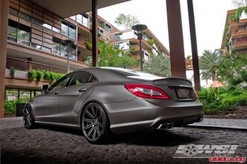 "Mercedes Benz CLS63 w/ 20"" Vossen VVS-CV4 Matte Graphite"