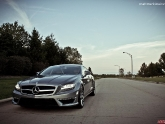Mercedes CLS63 Lowered with KW Coilovers and Flushed with H&R