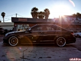 Mercedes C63 Lowered With Kw V3 Coilovers