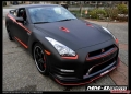 Matte Black Nissan GTR with Stillen Front Lip