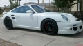 White Porsche 997 Turbo with Agency Power GT2RS Wheels 19x8.5 19x11
