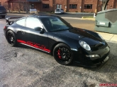 Ryan Dunn Porsche GT3 with Black RS-D Advan Wheels