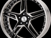 "Work Wheels Black Cut Clear (BP) Finish in 19"" Full Reverse Barrel"