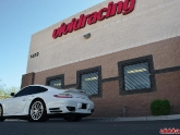Porsche 997.2 Turbo S Rear Angle Shot with Vivid Logo