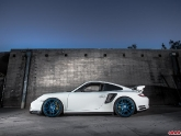 VR Porsche 997.2 Turbo Project Blue Chrome AP Wheels