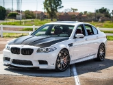 VR BMW M5 F10 with SSR CV01 Wheels H&R Springs Meisterschaft Exhaust Agency Power Carbon Aero