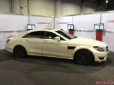 Vivid Racing Mercedes CLS63 in Vossen Wheels SEMA Booth