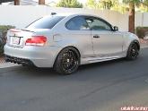 BMW 135I Flat Gray with iCarbon Aero Kit