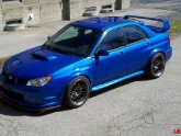 Subaru STI Flush Volk Racing RE30 18inch APR Front Lip Splitter