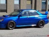 Subaru STI Flush Volk Racing RE30 18inch APR Front Lip Splitter