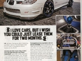 Rides Magazine Featuring Dave Mirra and the VR STI