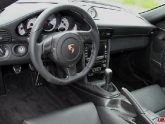 VR Porsche 987 997 Custom Steering Matte Carbon Gray Stitching Flat Bottom Installed