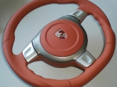 VR Custom Steering Wheel Porsche 997 Terracotta Leather