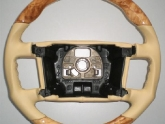 VR Bentley GT Custom Steering Wheel with Olive Ash Wood Leather