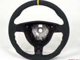 AP Steering Wheel Round Airbag Alcantara Yellow Stripe