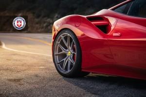 Ferrari 488 GTB, HRE P101, Brushed Titanium