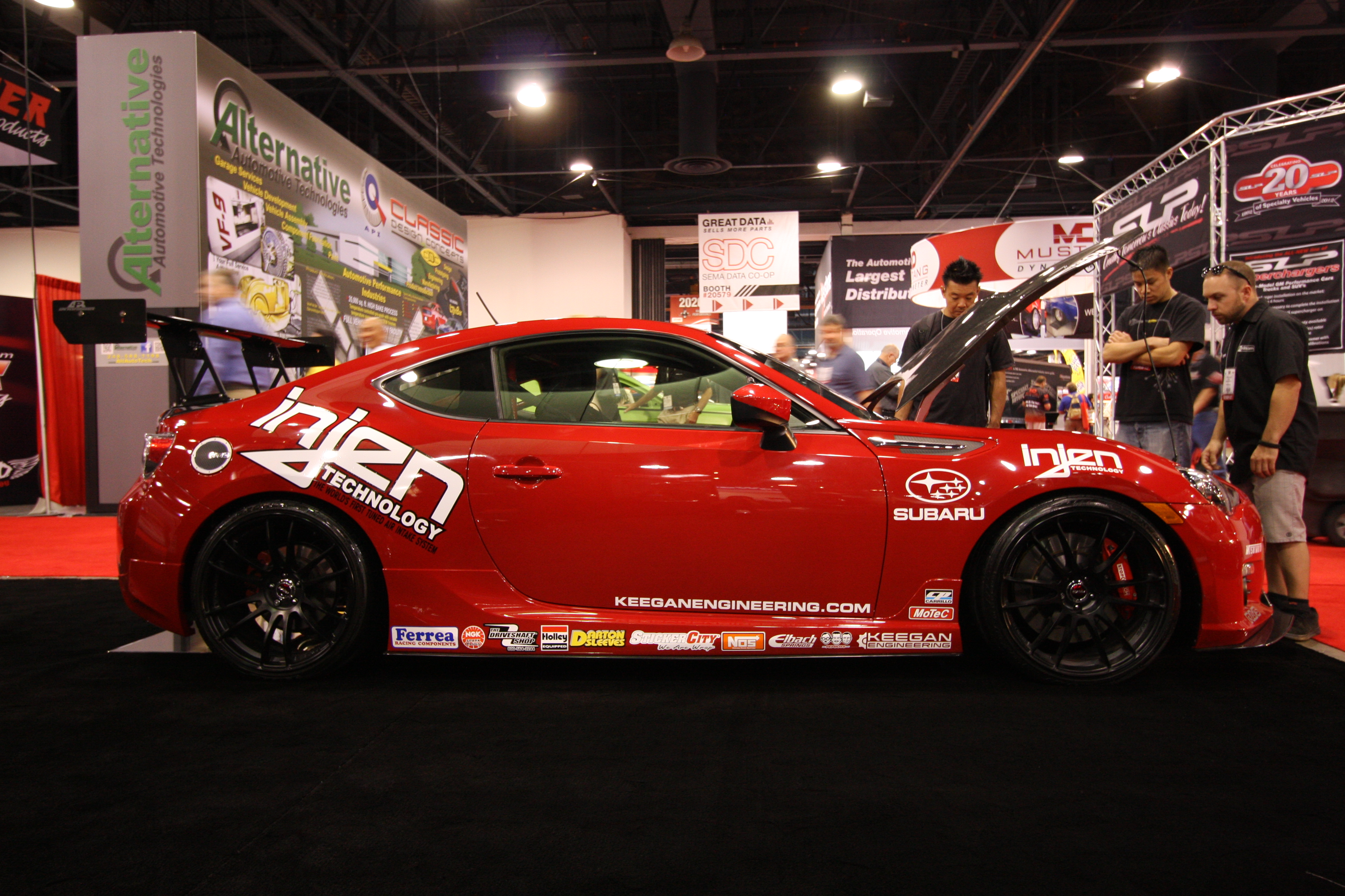 BRZ at SEMA booth