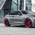 Frozen Gray BMW M4, Vorsteiner, diffuser, spoiler, front lip, flow forged wheels