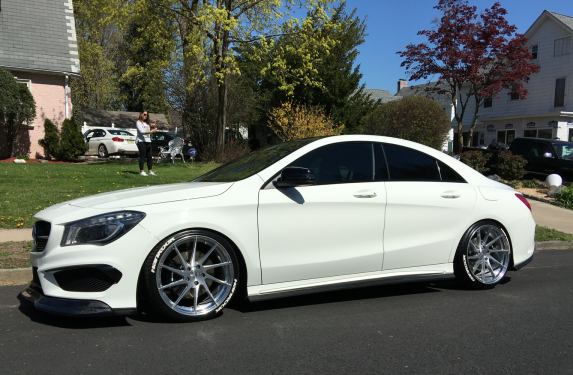 Mercedes Benz, CLA45, Fairy Design, carbon fiber, front spoiler, front lip, splitter