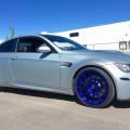 Volk Racing, wheels, G12, forged, BMW, M3, hyper blue, frozen silver