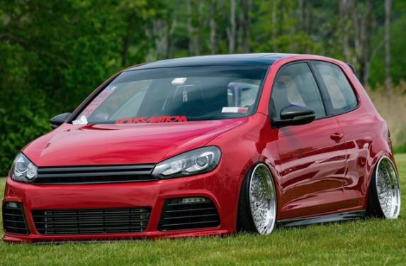 Kerscher, Volkswagen, Golf R, GTI, GLI, carbon fiber front splitter, lip spoiler